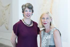 Charlotte Street Foundation's new executive director Julie Gordon Dalgleish and Kate Hackman, who transitions from co-director to the new position of artistic director.