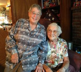 Sister Berta Sailer, left, will not retire right now. Sister Carita Bussanmas had a bad fall recently and may not be able to come back to Operation Breakthrough to work.