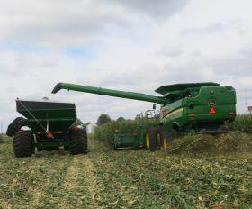 Corzine and his son Christian farm 3,000 acres and can't afford a broken wagon or combine.