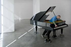 'Stop, Repair, Prepare: Variations on Ode to Joy, No.1,' 2008. Modified Bechstein piano