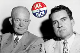 Dwight Eisenhower and Richard Nixon won the presidential election in 1952 and in 1956.