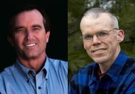 Robert F. Kennedy, Jr. (left) and Bob McKibben (right)