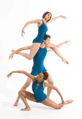 Megan Horton, Shane Tice, Latra Wilson dance as part of the Owen/Cox Dance Group.