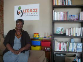 Sherry Payne, Executive Director of Uzazi Village, aims to address infant and maternal health inequalities, especially in Kansas City's African-American community. She has been a nurse for 12 years and is studying to become a midwife.