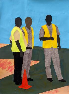 Paul Anthony Smith, Talk Easy, 2012, acrylic collage on paper.