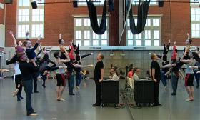 Kansas City Ballet's new artistic director Devon Carney directs a rehearsal of Opus 1.