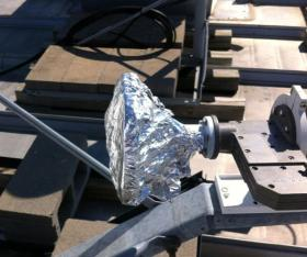 thieves use foil to cover satellite transceiver, deceiving credit card sales.