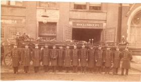 Bernard McBreen, third from right, was one of the first Irishmen to perish in the line of duty.