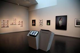 Visitors to the museum can view two exhibitions - one online and one on the gallery walls.