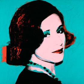 Henry Bloch commissioned this portrait of Marion, painted by pop artist Andy Warhol.