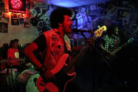 Radkey played to a packed crowd at a club in their hometown of St. Joseph, Mo.