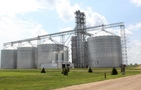 At a Mid-Iowa Cooperative elevator in Tama County, Iowa, a control room has monitors that show the conditions in each bin, which means grain workers don't have to investigate issues.