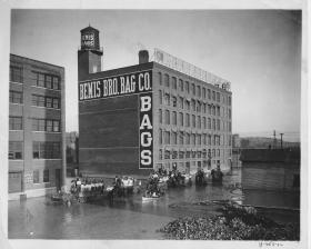 Bemis Brothers Bag Company was located on the 1300 block of West 12th Street.