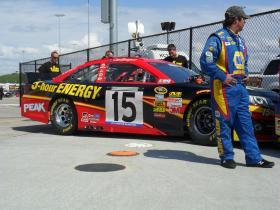 Clint Bowyer's car at Kansas Speedway April 2013.