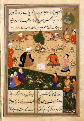 Rumi's poetry has been popular for centuries, as seen in this 16th century book.