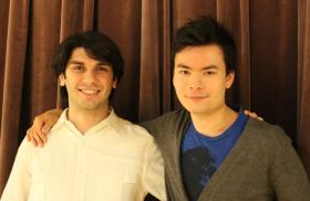 Kansas City Symphony's associate conductor, Aram Demirjian, and violinist Stefan Jackiw, attended elementary school together in Boston.