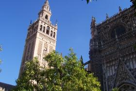 Look familiar? This is La Giralda in Seville, Spain, the structure after which the tower in the Country Club Plaza is modeled. Seville is one of Kansas City's sister cities.