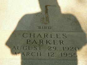 "The tombstone of Charlie ""Bird"" Parker buried in Lincoln Cemetery."
