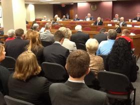 The Joint Committee on Education meets at the Mo. Capitol on Oct. 1, 2013.