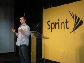 Sprint's Kevin McGinnis speaks at Accelerator launch.