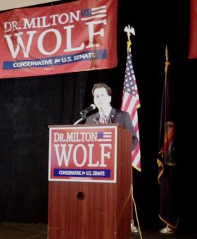 Milton Wolf is challenging U.S. Senator Pat Roberts in the Republican primary in Kansas.