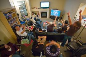 There's nothing like watching the game after Thanksgiving dinner.