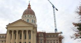 The Kansas Statehouse has been under construction for more than a decade.