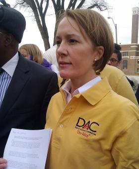 Jennifer Wolfsie is a member of the Kansas City Public Schools District Advisory Committee. She  holds a petition to set a moratorium on state efforts to re-accredit schools.