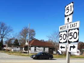 The town of Sandoval was born along U.S. Route 51, which runs north-south from Kentucky to the state of Wisconsin. Once a booming corridor, this area in southern Illinois now sees extreme poverty.