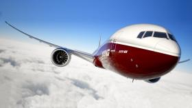 Artist rendering of the planned Boeing 777x.