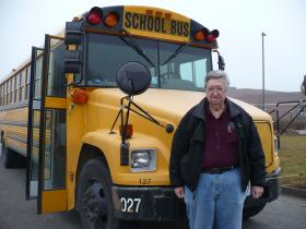 Ernest Garner drives this school bus for Crabtree Transportation in the Belton School District.