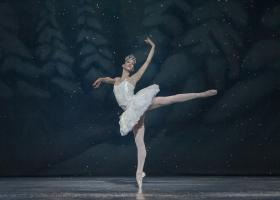 Dancer Angelina Sansone in this year's production of the Kansas City Ballet's Nutcracker.