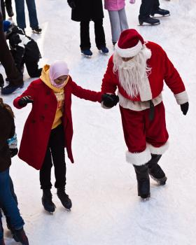 Look on Brian McTavish's Weekend To-Do List to see how you can skate with Santa.