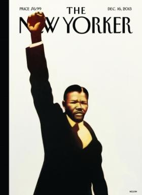 """""""The New Yorker"""" honored Nelson Mandela this week with an image of the South African president as a young man."""