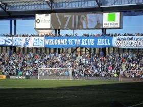 Sporting KC fans in the Cauldron section of Sporting Park.