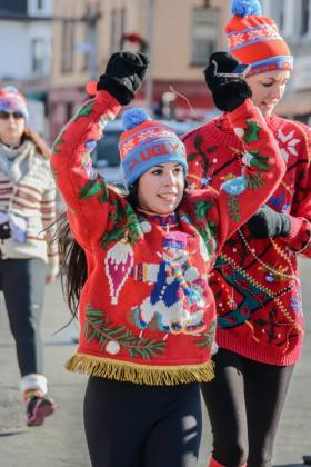 Wear a sweater and beat the cold with this weekend's Ugly Sweater Run.