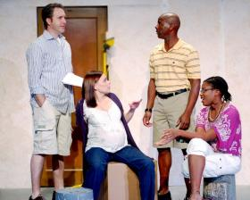 Actors, from left to right, Brian Paulette, Jessalyn Kincaid, Mykel Hill and Janae Mitchell in 'Clybourne Park.'
