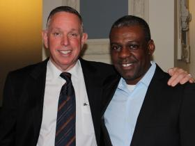 Kennedy Center president, Michael Kaiser, stands with KCFAA executive director, Tyrone Aiken. Kaiser was brought in as a consultant.