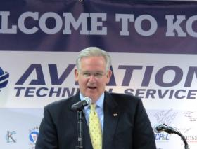 Missouri Gov. Jay Nixon spoke at the overhaul base Thursday.