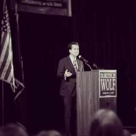 Milton Wolf formally announcing his candidacy in October, 2013