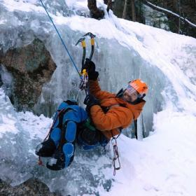 Sean O'Neill, who is a paraplegic, now leads climbs as part of Paradox Sports.