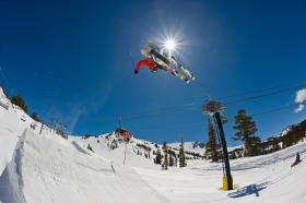 To get your start on freestyle skiing in the Kansas City area, start practicing gymnastics and jumps on trampolines.