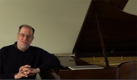 Garrick Ohlsson, American classical pianist with Cynthia Siebert's Steinway Model C Concert Grand.