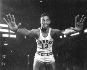 Wilt Chamberlain played for the University of Kansas from 1955 to 1958.
