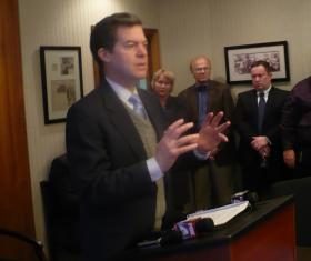 Kansas Gov. Sam Brownback announces mental health crisis center in Kansas City, Kan.