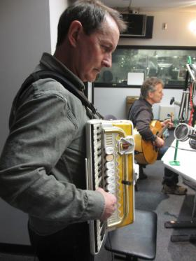 Brent Hoad (left) and Steve Phillips of The Elders perform during Thursday's Up to Date.