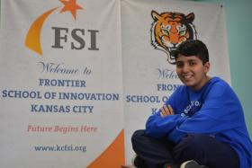 Kush Sharma of Frontier School of Innovation in Kansas City, Mo.