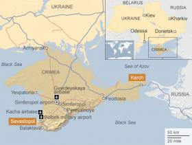 The Crimean peninsula is the focus of the Ukrainian-Russian tensions at the moment.