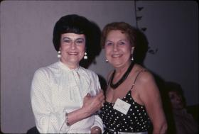 Ginny Coleman (left) with then business manager at KCUR, D.J. Harris.