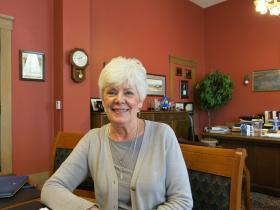 Sandy Praeger, Kansas Commissioner of Insurance, in her office in Topeka, Kan.